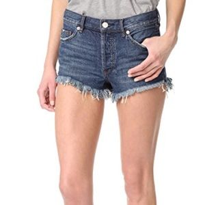 Free People jean cut off shirt size 26